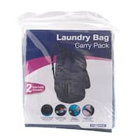 Homz 1220225 27 x 29 in. Backpack Laundry Bag  Assorted