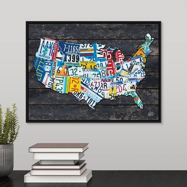 Shop USA License Plate Map - Multi-Color - Free Shipping ...