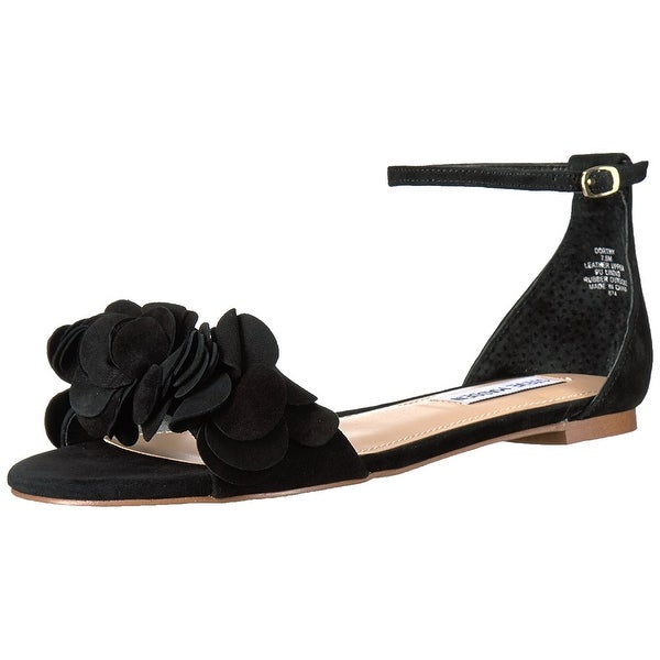 Steve Madden Womens Dorthy Leather Open Toe Casual Ankle Strap Sandals