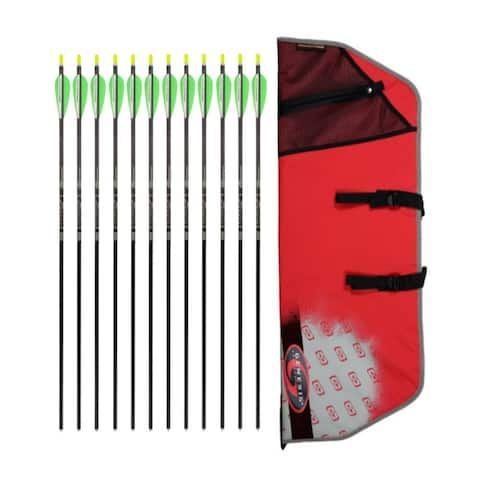 """Easton Case for Genesis Bows Original Compound Bow (Red) w/ 12 Arrows - 30"""""""