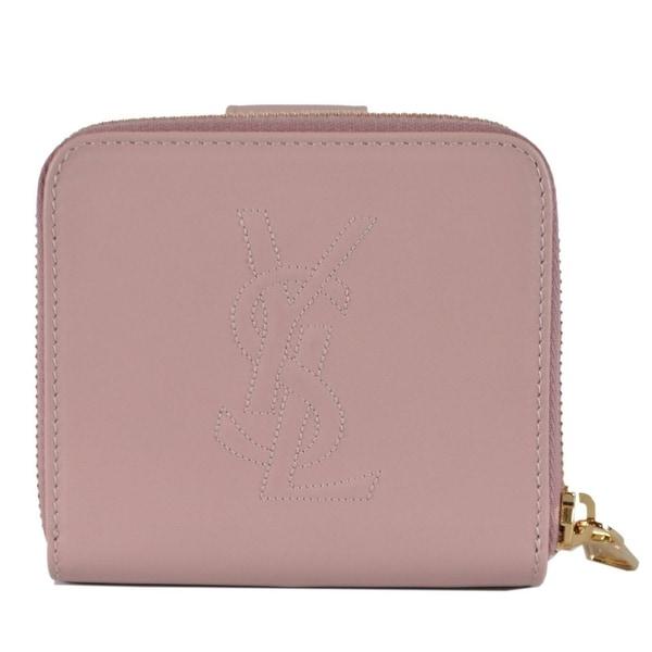 492a3b9f Shop Saint Laurent YSL 568985 Pink Leather Belle de Jour Zip Around ...