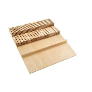 Rev A Shelf RS4WDKB 18.5 in. Wood Double Knife - Block