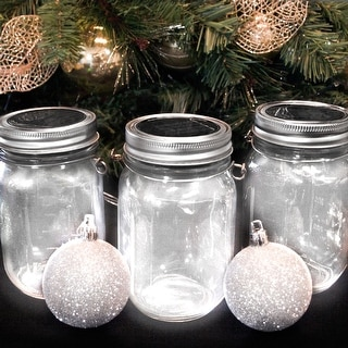 NITESHINE Solar Glass Mason Jar Light For Outdoor Decor