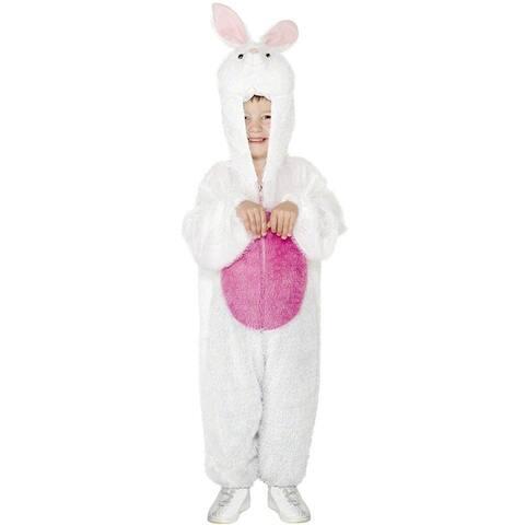 Smiffy White Bunny Jumpsuit Child Costume (Medium) - Medium