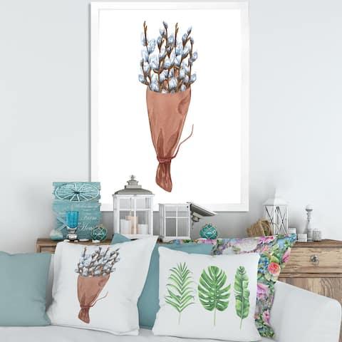 Designart 'Bunch of Willow Twigs I' Farmhouse Framed Art Print