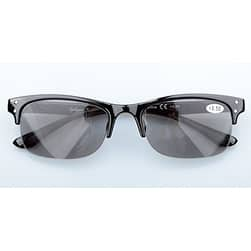 ed7823e81529 ... Eyekepper Plastic Frame Spring Hinges Half-rim Reading Glasses Sun  Readers Grey Tinted Lenses + ...