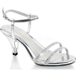 Fabulicious Women's Belle 316 Silver/Clear
