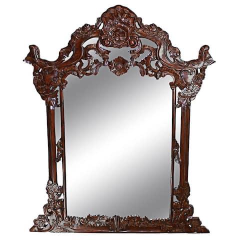Design Toscano Hapsburg Mirror - Dark Mahogany - A