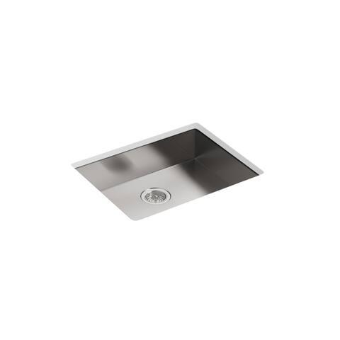 """Kohler K-3894 Vault 24"""" Undermount Single Basin Stainless Steel Kitchen Sink"""