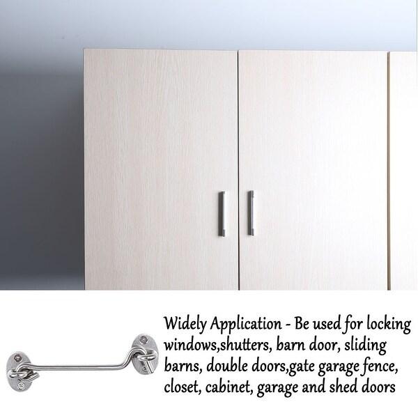 Solid Brass hook and eye Latch Door lock Bathrooms cabins Cupboards Gate Latch