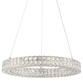 """Platinum PCIN1820 Infinity LED 20"""" Wide Pendant with Clear Glass"""