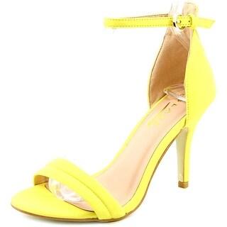 Glaze Willow 2 Women Open Toe Canvas Yellow Sandals