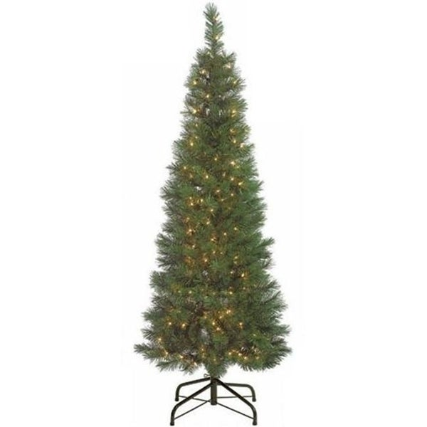Autograph Foliages C-60111 - 6 Foot Pencil Pine Tree - Green - Clear Lights