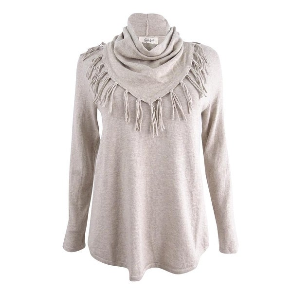 efcca85e920a Shop Style & Co Women's Cowl-Neck Sweater (XS, Hammock Heather) - Hammock  Heather - XS - On Sale - Free Shipping On Orders Over $45 - Overstock -  25666624