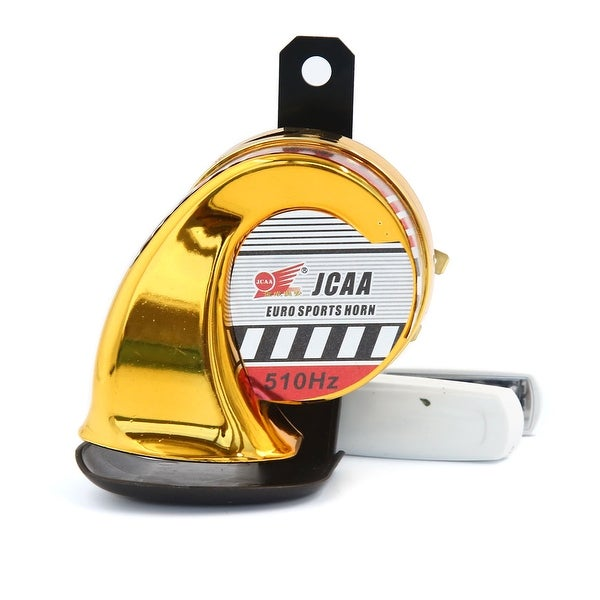 12V 510Hz Gold Tone Waterproof Air Snail Shape Horn for Motorcycle Vehicle