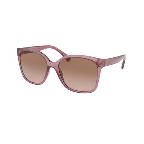 Ralph RA5268 588411 56 Shiny Transparent Rose Woman Square Sunglasses
