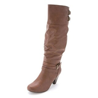 Rampage Womens Edsel Almond Toe Knee High Fashion Boots