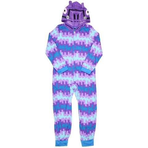 Fortnite Big Boys' Loot Smash Hooded Blanket Sleeper Union Suit Pajama