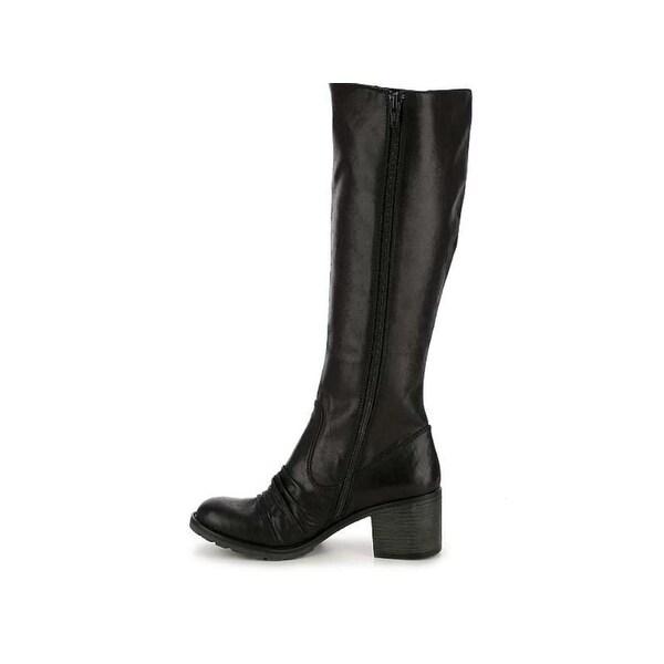 Bare Traps Womens DALLIA Closed Toe Mid-Calf Riding Boots, DARK BROWN, Size 5.5