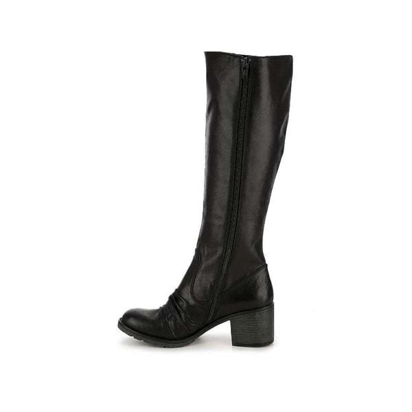 Bare Traps Womens DALLIA Closed Toe Mid-Calf Riding Boots, DARK BROWN, Size 9.0