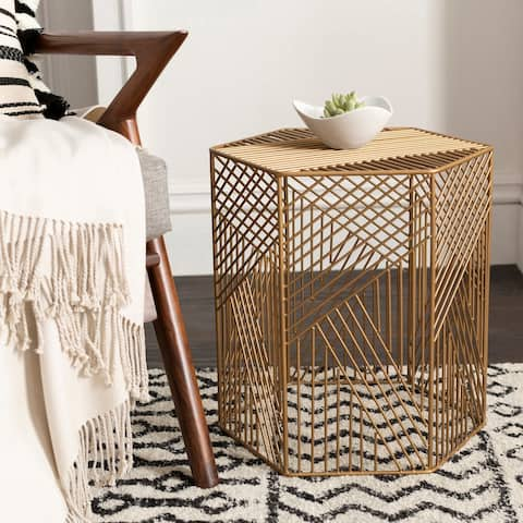 Zander Modern Metal Outdoor Safe Garden Stool