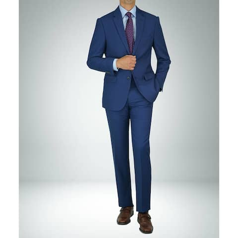 Carlo Studio Bird's eye Blue on Blue Modern-Fit Suit