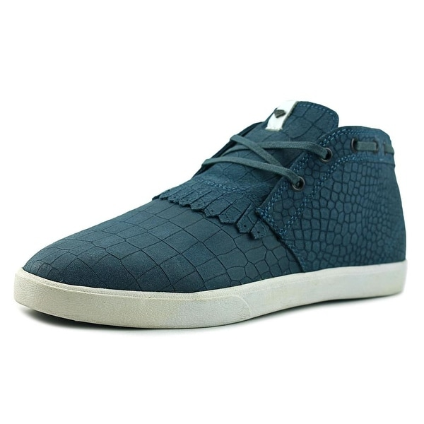 Diamond Supply Co Jasper Men Round Toe Leather Blue Sneakers