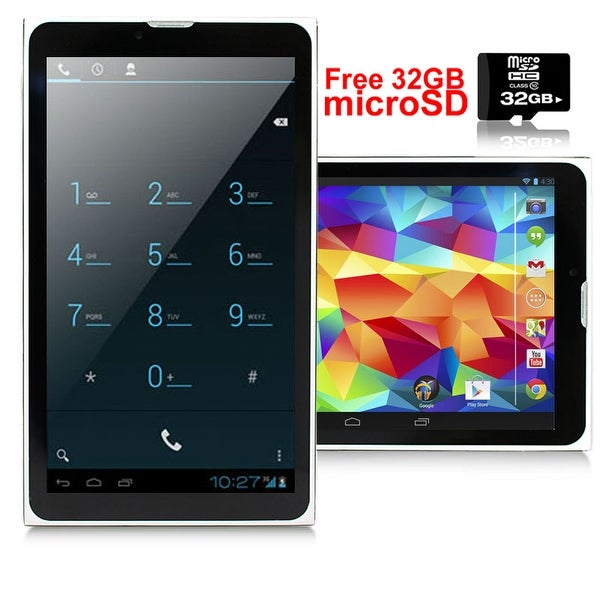 """Indigi® A76 Factory Unlocked 7.0"""" Dual-Core Android 4.4 KitKat 2-in-1 TabletPC + DualSim SmartPhone w/ 32gb microSD Included"""