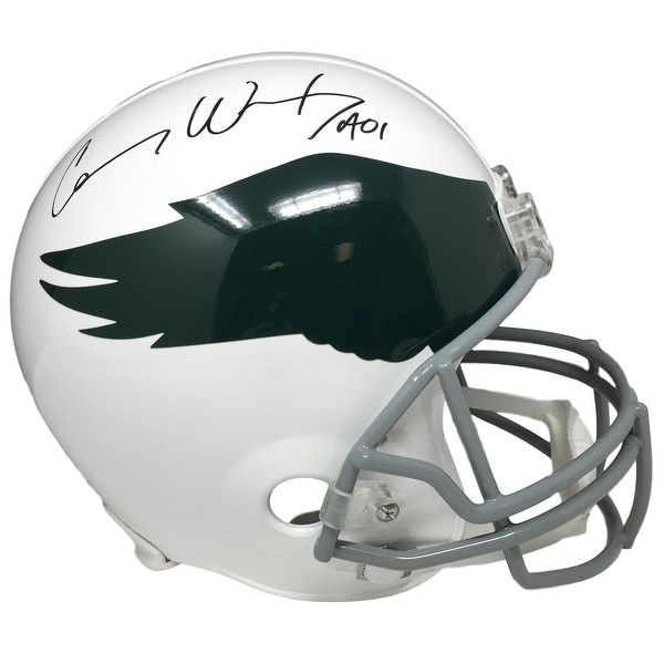 7b7a039f03b Shop Carson Wentz Signed Eagles Full Size Replica Throwback Helmet Fanatics  - Free Shipping Today - Overstock - 21950758