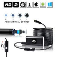 Indigi® Waterproof Endoscope Borescope Wireless WiFi Inspection Snake Camera for iPhone & Android - Adjustable LEDs - 1M