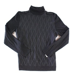 Alfani Gray Mens Size 3XL Ribbed Turtleneck Pull-Over Sweater