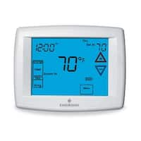 White-Rodgers 1F95-1277 Universal Thermostat with Programmable Fan, Remote Senso - White - N/A