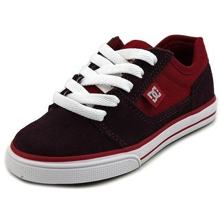DC Shoes Tonik Youth Round Toe Leather Burgundy Skate Shoe