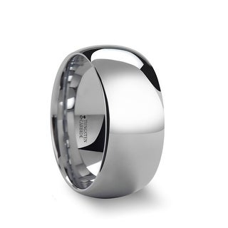 THORSTEN ADDINGTON 10mm Domed White Tungsten Wedding Band With Polished Finish