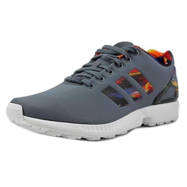 Adidas Zx Flux Round Toe Canvas Running Shoe