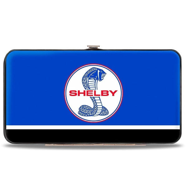 Shelby Tiffany Split Stripe Blue Red White Black Hinged Wallet - One Size Fits most
