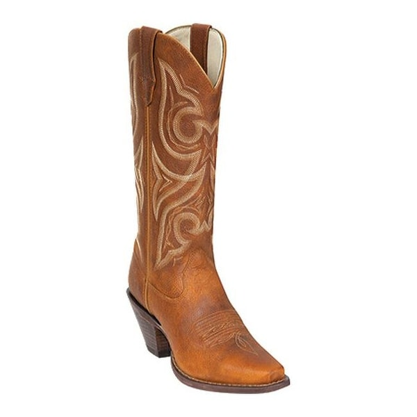 "Durango Boot Women's RD3514 13"" Tall Jealousy Distressed Cognac"