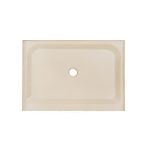 Voltaire 48 x 36 Single-Threshold, Center Drain, Shower Base, Biscuit