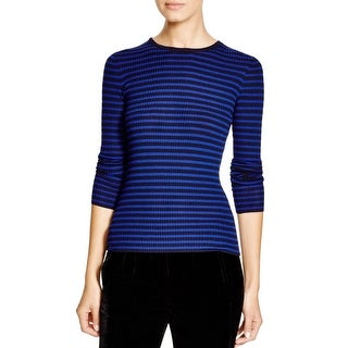 Theory Womens Pullover Top Ribbed Striped - s