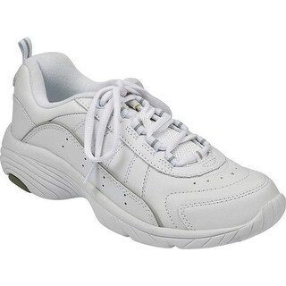 Easy Spirit Women's Punter White/Light Gray Leather