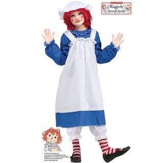 Fun World Raggedy Ann Child Costume - Blue (2 options available)