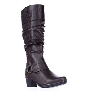 Easy Street Jayda Mid Calf Slouch Boots - Brown