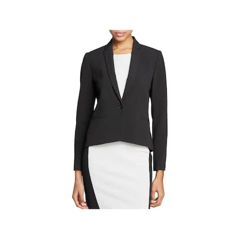 T Tahari Womens Carina One-Button Blazer Lined Long Sleeve