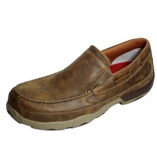 Twisted X Work Shoes Mens Driving Mocs Slip-On CT Bomber