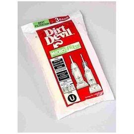 """Dirt Devil 3-920750 Type """"U"""" Vacuum Bags"""