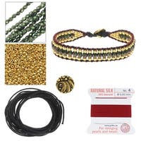 Refill - Cotton Wrapped Loom Bracelet - Christmas Party - Exclusive Beadaholique Jewelry Kit