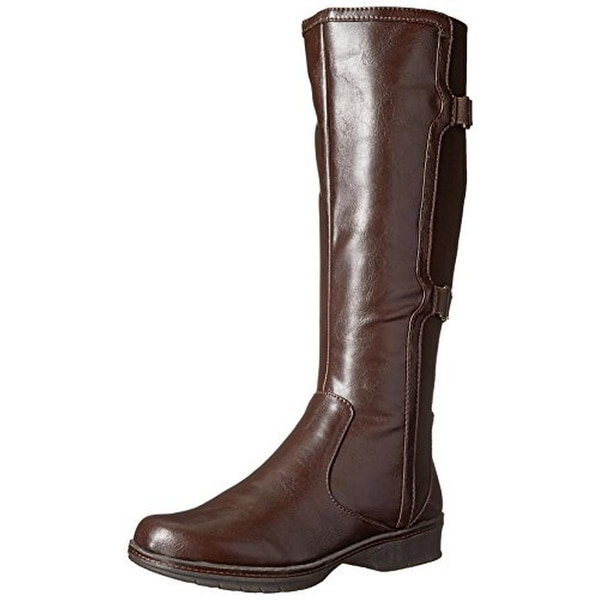 LifeStride Womens Venture Riding Boots Faux Leather Knee High