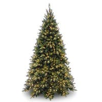 7.5 ft. Tiffany Fir Medium Tree with Clear Lights - green