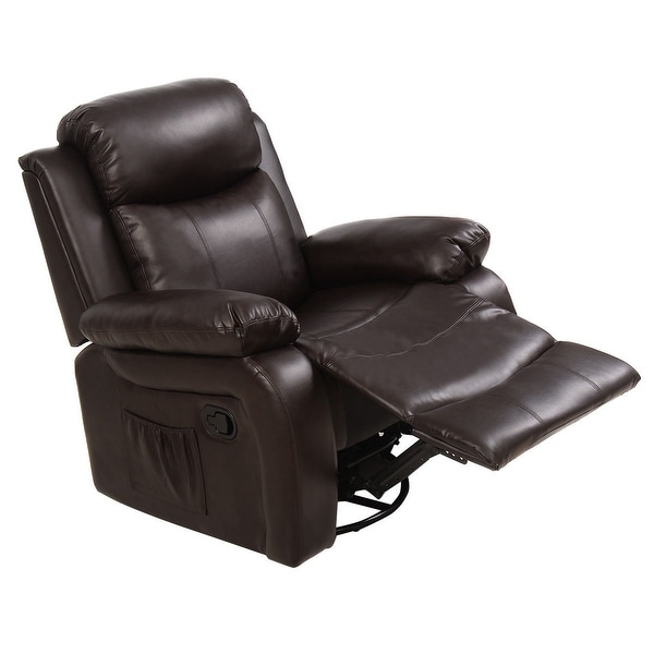 Shop Costway Ergonomic Massage Sofa Chair Head Supported Recliner