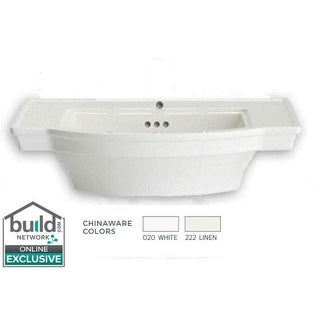 """American Standard 900.001 Estate 24"""" Pedestal Bathroom Sink Only with 1 Hole Drilled and Overflow (2 options available)"""